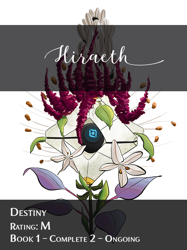 Destiny Hiraeth cover showing Ghost with flowers growing around his shell.